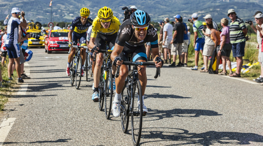 Richie Porte , Christopher Froome and Alberto Contador