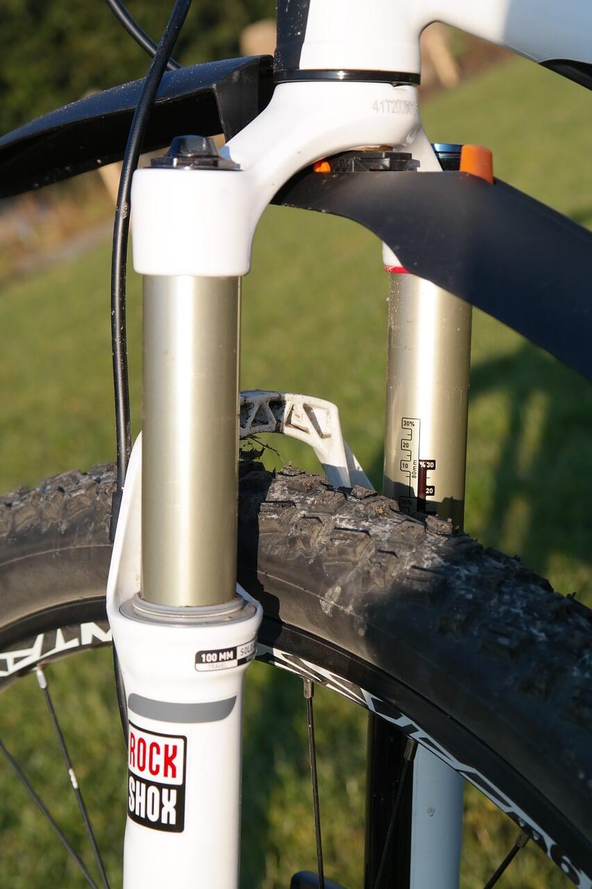horquilla de bicicleta de montaña