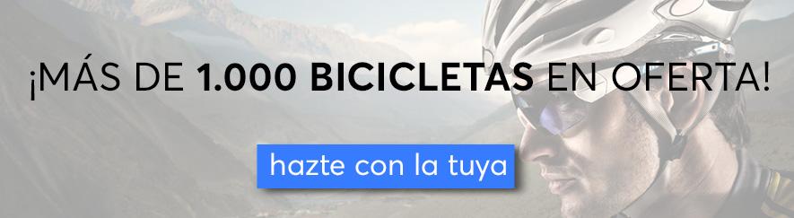 Banner más de 1000 bicis en oferta