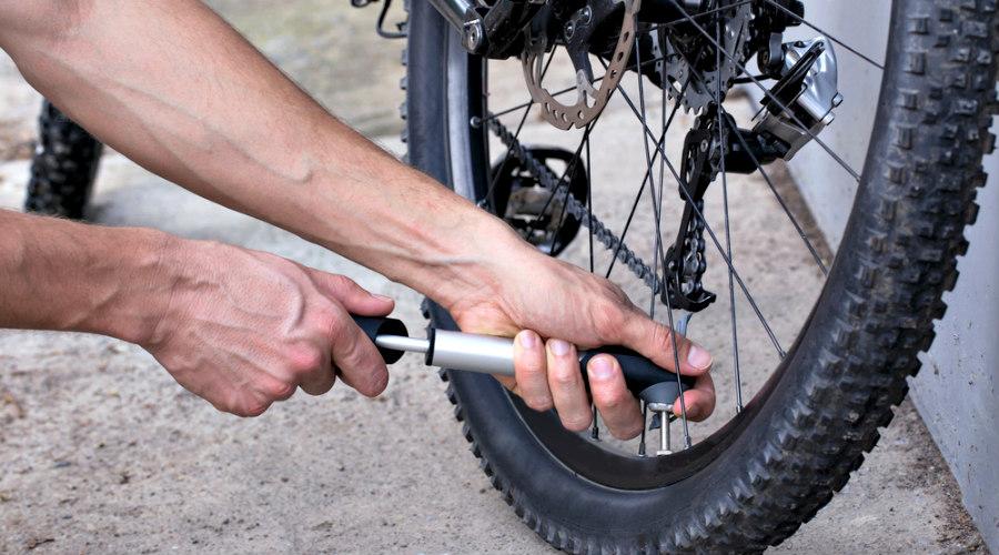 inflar rueda de biciclceta