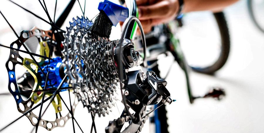Limpieza del cambio de la bicicleta