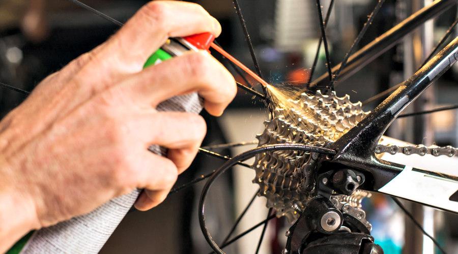 engrasar la bicicleta
