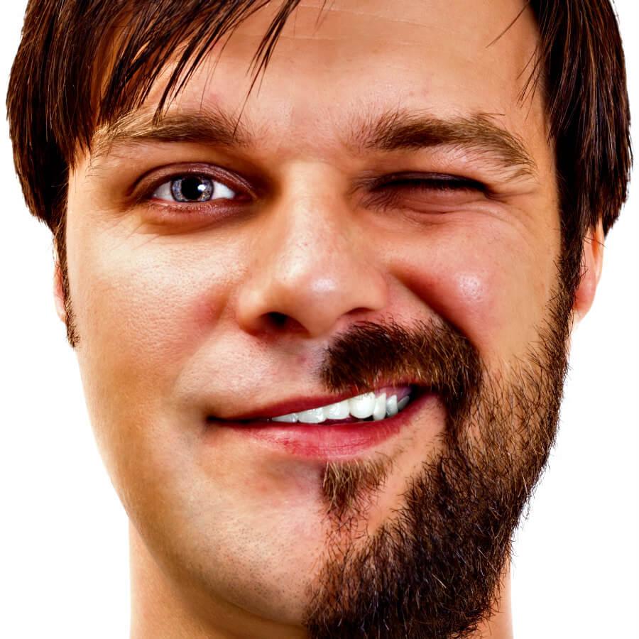 Ciclista afeitado o con barba