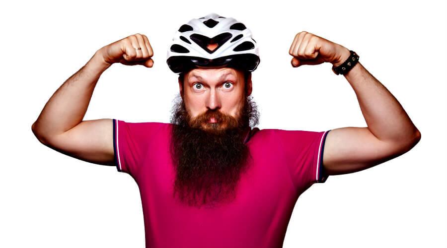 Ciclista con barba