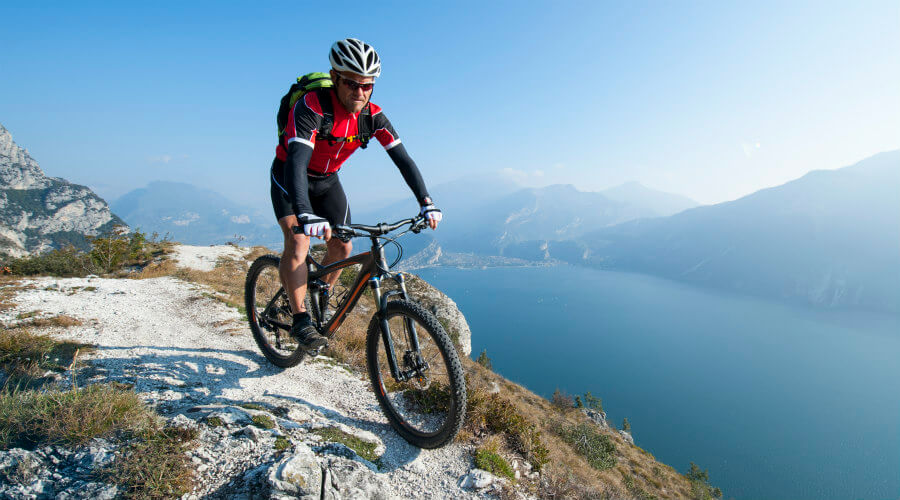 Ciclista de montaña