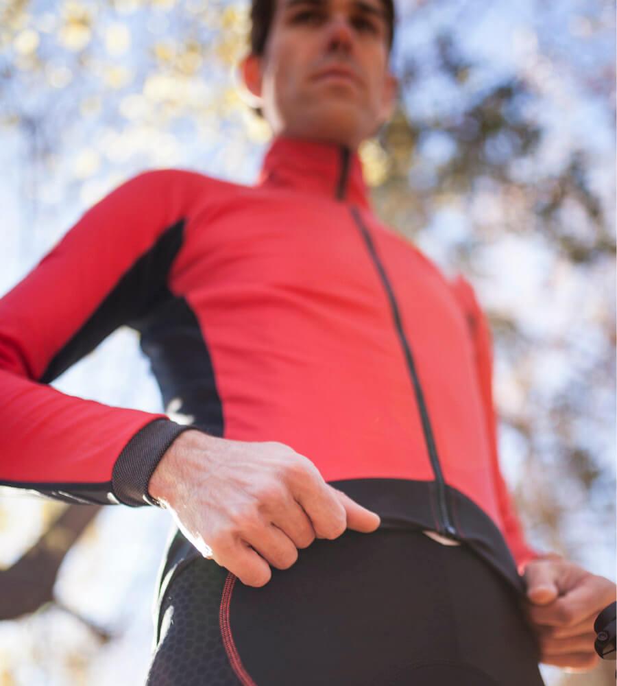 Maillot ciclista de manga larga