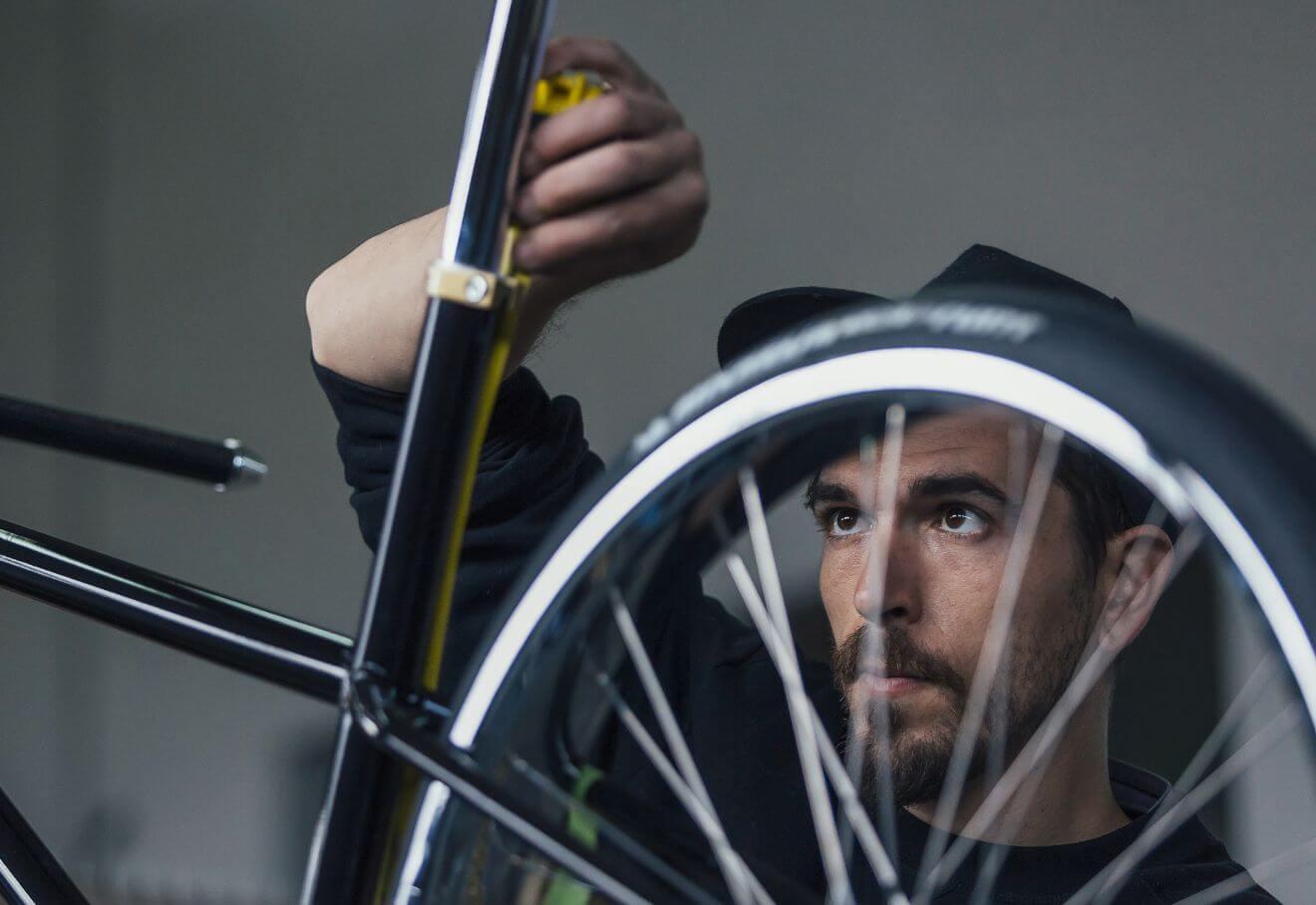 Medir cuadro de bicicleta