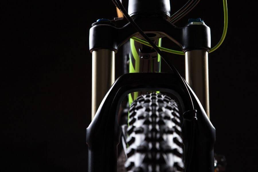 Horquilla de una bicicleta de montaña