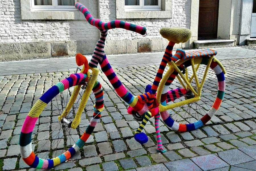 bicicleta de ganchillo