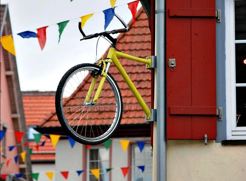 Bicicleta señal de tráfico