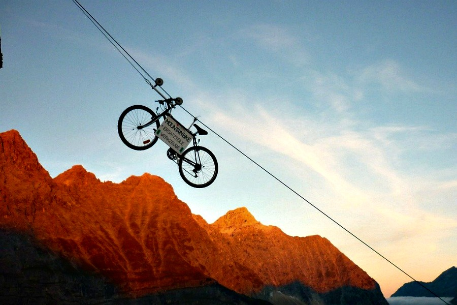 bicicleta teleférico